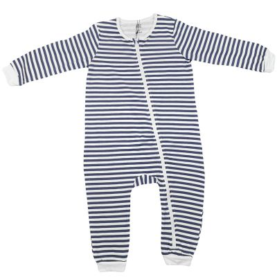 A2Z Trendz Kids Girls Boys Toddlers Romper Navy Stripped Onesie Sleepsuit All In One Jumpsuit Playsuit Nightwear New Age 0 1 2 3 Years