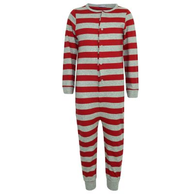 A2Z Trendz Kids Boys Girls Stripes Print Onesie All In One Jumpsuit Playsuit Loungewear Nightwear New Age 2 3 4 5 6 7 8 9 10 11 Years