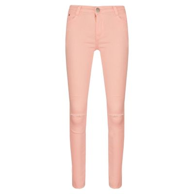 A2Z Trendz Girls Stretchy Jeans Kids Peach Denim Ripped Pants Fashion Frayed Trousers Jeggings Age 5 6 7 8 9 10 11 12 13 Years