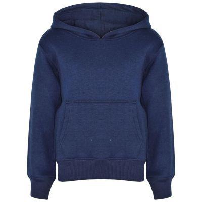 A2Z Trendz Kids Girls Boys Sweat Shirt Tops Designer's Casual Plain Navy Pullover Sweatshirt Fleece Hooded Jumper Coats New Age 2 3 4 5 6 7 8 9 10 11 12 13 Years