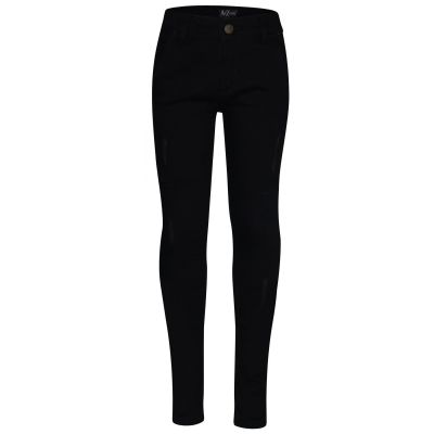 A2Z Trendz Kids Boys Skinny Jeans Designer Jet Black Denim Ripped Bikers Fashion Stretchy Pants Trendy Slim Fit Adjustable Waist Trousers New Age 5 6 7 8 9 10 11 12 13 Years