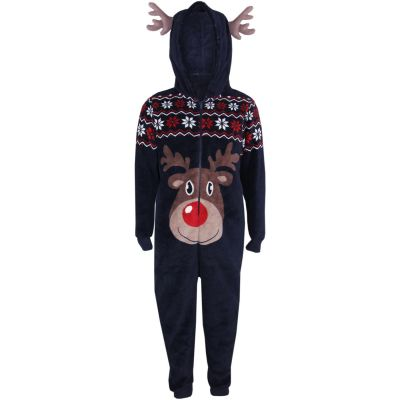 A2Z Trendz Kids Girls Boys A2Z Onesie One Piece Extra Soft Fluffy Reindeer All In One Xmas Costume Xmas Gift New Age 5-6 Years
