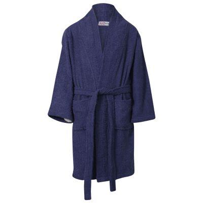Girls Boys Navy Towel Bathrobe