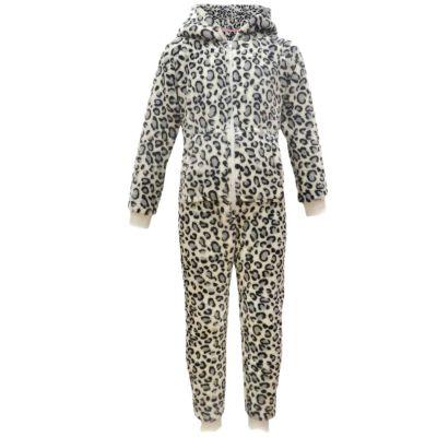 Kids Boys Girls Extra Soft Leopard Snow Onesie