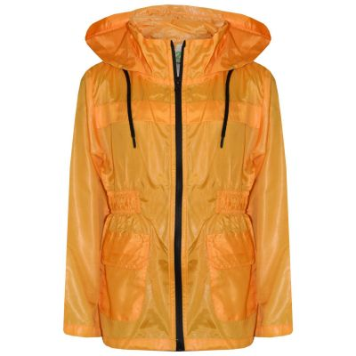 A2Z Trendz Girls Boys Raincoats Jackets Kids Mustard Light Weight Waterproof Kagool Hooded Jacket Cagoule Rain Mac Thin Coats New Age 5 6 7 8 9 10 11 12 13 Years