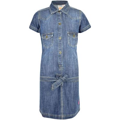 Kids Girls Dress Denim Style Stylish Short Sleeves Fashion Dresses New Age 3 4 5 6 Years