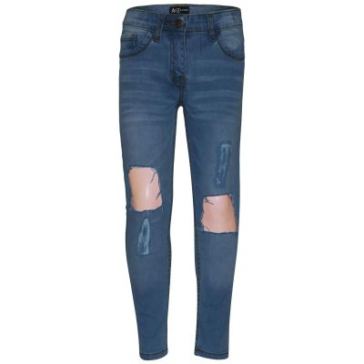 A2Z Trendz Kids Girls Skinny Ripped Jeans Designer's Light Blue Denim Trendy Fashion Stretchy Jeggings Pants Stylish Slim Fit Trousers New Age 3 4 5 6 7 8 9 10 11 12 13 Years