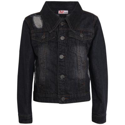 Girls Denim Ripped Jacket