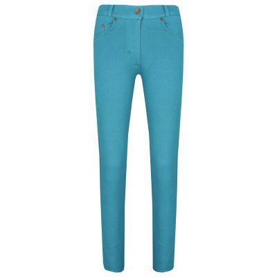 A2Z Trendz Girls Skinny Jeans Kids Aqua Stretchy Jeggings Denim Fit Pants Fashion Coloured Trousers Age 5 6 7 8 9 10 11 12 13 Years