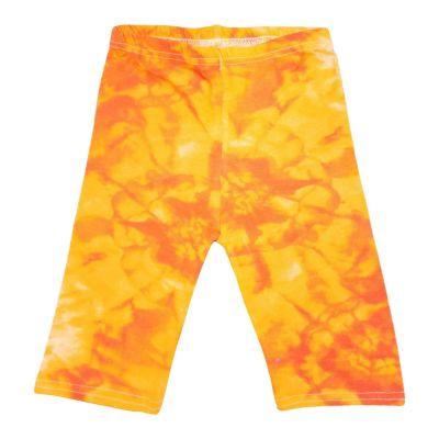 A2Z Trendz Kids Girls Cycling Shorts Tie Dye Print Orange Gym Dance Running Trendy Fashion Summer Short Knee Length Half Pant New Age 5 6 7 8 9 10 11 12 13 Years