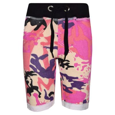 A2Z Trendz Kids Girls Boys Summer Shorts Fleece Baby Pink Camouflage Print Chino Shorts Knee Length Half Pant Age 3-13 Years