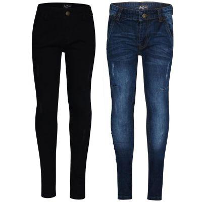 A2Z Trendz Kids Boys Skinny Jeans Designer Denim Ripped Bikers Fashion Skinny Pants Trendy Slim Fit Adjustable Waist Trousers New Age 5 6 7 8 9 10 11 12 13 14 Years