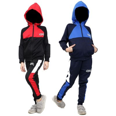 A2Z Trendz Kids Girls Boys Tracksuit Designer's GDR Print Contrast Panelled Fleece Hooded Hoodie Top Bottom Workout Running Jogging Suit Sportswear Gymwear Jogger Age 7 8 9 10 11 12 13 Years