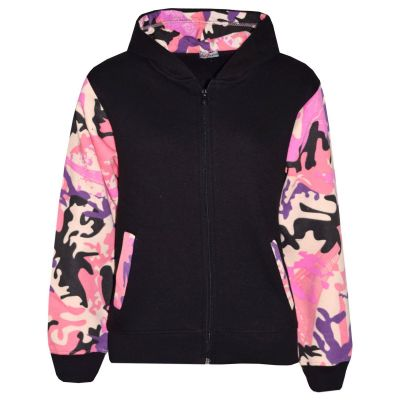 A2Z Trendz Boys Girls Jackets Kids Camouflage Baby Pink Print Fleece Hooded Hoodie Zipped Top Jackets New Age 5-13 Years