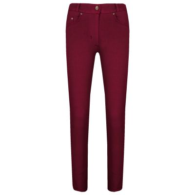 A2Z Trendz Girls Skinny Jeans Kids Stretchy Jeggings Wine Denim Ladies Slim Fit Pants Fashion Coloured Trousers Age 5 6 7 8 9 10 11 12 13 Years