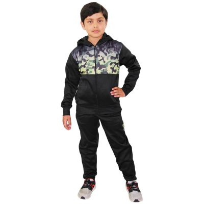 A2Z Trendz Kids Boys Girls Tracksuit Green Camouflage Panelled Hooded School Fashion Zipped Top & Bottom Gym Wear Workout Jogging Suit Sports Joggers New Age 5 6 7 8 9 10 11 12 13 Years