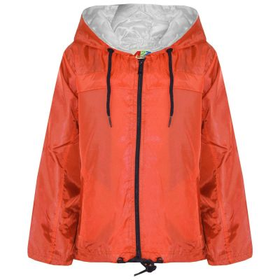 A2Z Trendz Girls Boys Raincoats Jackets Kids Orange Lightweight Kag Mac Waterproof Hooded Jacket Cagoule Rain Mac Age 5 6 7 8 9 10 11 12 13 Years