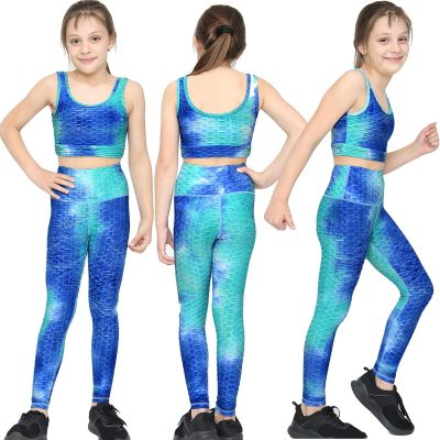 Girls Honeycomb Vest & Legging Summer Yoga Set