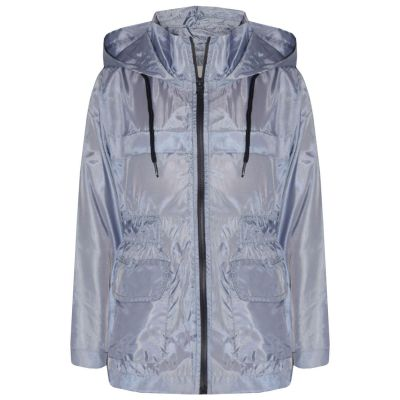 A2Z Trendz Girls Boys Raincoats Jackets Kids Silver Light Weight Waterproof Kagool Hooded Jacket Cagoule Rain Mac Thin Coats New Age 5 6 7 8 9 10 11 12 13 Years