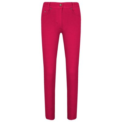 A2Z Trendz Girls Skinny Jeans Kids Stretchy Jeggings Cerise Denim Ladies Slim Fit Pants Fashion Coloured Trousers Age 5 6 7 8 9 10 11 12 13 Years