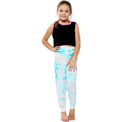 A2Z Trendz Kids Girls Ali Baba Style Tie Dye Print Trendy Fashion Harem Trouser Leggings Pants Age 5 6 7 8 9 10 11 12 13 Years