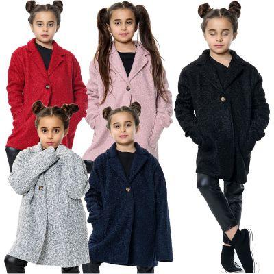 Kids Girls Jacket Designer's Teddy Petite Sherpa Fashion Jackets Outerwear Coats New Age 5 6 7 8 9 10 11 12 13 Years