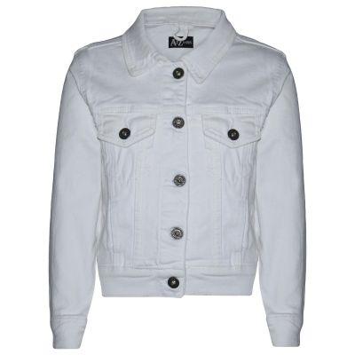 A2Z Trendz Kids Girls Jackets Designer's Denim Style Trendy Fashion White Jeans Jacket Stylish Coats Age 3 4 5 6 7 8 9 10 11 12 13 Years