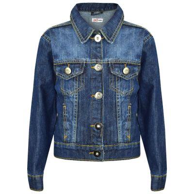 A2Z Trendz Kids Girls Jackets Designer's Denim Style Trendy Fashion Dark Blue Jeans Jacket Stylish Coats Age 3 4 5 6 7 8 9 10 11 12 13 Years
