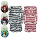A2Z Trendz Girls Xmas Dress Kids Reindeer Aztec Snowflake Print Christmass Dresses With A Free Xmas Badge New Age 3 4 5 6 7 8 9 10 11 12 13 Years