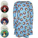 A2Z Trendz Girls Christmas Dress Kids Penguin Print New Xmas Fashion Dresses With A Free Xmas Badge New Age 3 4 5 6 7 8 9 10 11 12 13 Years