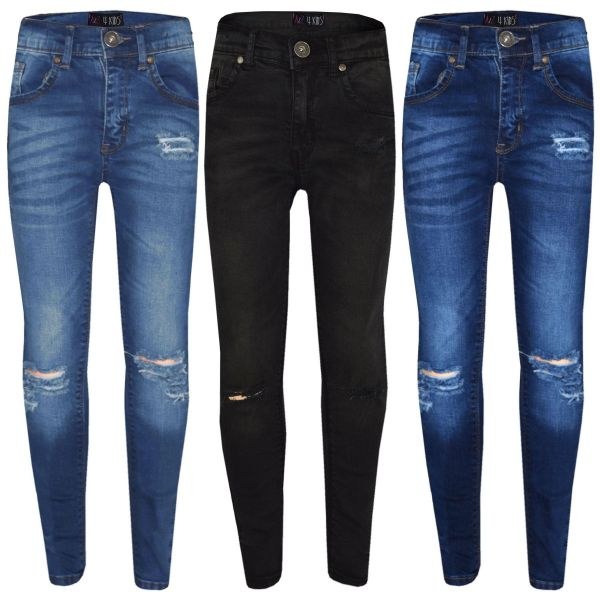A2Z 4 Kids/® Girls Stretchy Jeans Kids Roses Embroidered Denim Pants Fashion Trousers Jeggings Age 5 6 7 8 9 10 11 12 13 Years