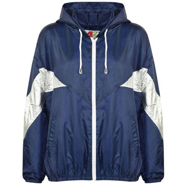 11//12 Years, Navy Boys Girls Kids Waterproof Rain Jacket Kagoul Kagool Rain Coat