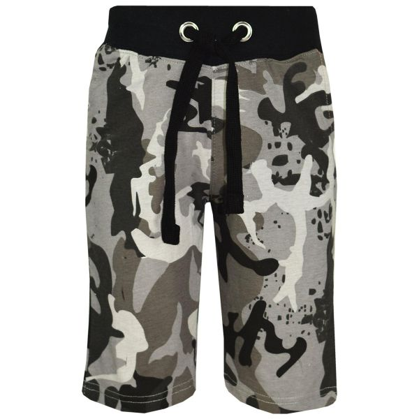 Kids Boys Girls Short Two Tone Camouflage Red Summer Chino Knee Length Half Pant