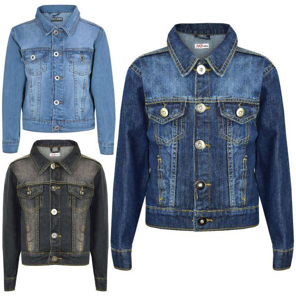 Kids Girls Jackets Designer Denim Style Fashion Jean Jacket Coat New Age 3-13 Yr