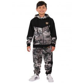 A2Z 4 Kids/® Boys Girls Tracksuit Kids Charcoal Camouflage Jogging Suit Top Bottom 5-13 Years