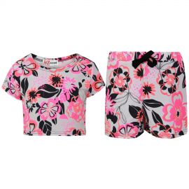 A2Z 4 Kids Kids Girls Crop Top /& Shorts Rainbow Unicorn Stars Print Trendy Fashion Summer Outfit Short Sets New Age 7 8 9 10 11 12 13 Years