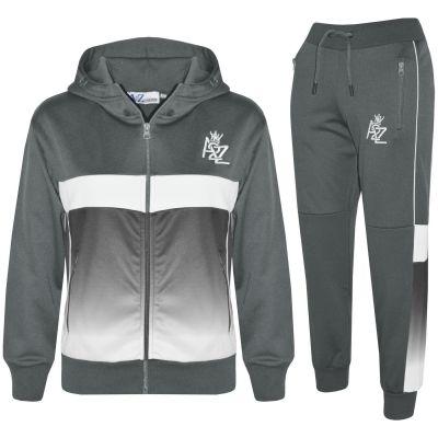 Kids Boys Girls HNL Joggers Set Fleece Sports Hoodie Top Bottoms Tracksuit Pants