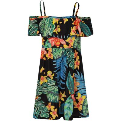Girls Skater Dress Kids Floral Print Summer Party Dresses New Age 7-13 Years
