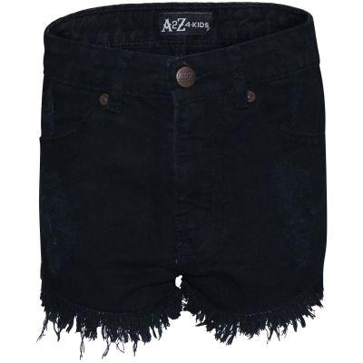 Kids Girls Denim Shorts Elasticated Waist Cotton Casual Shorts Pants 2,4,6,8,10Y