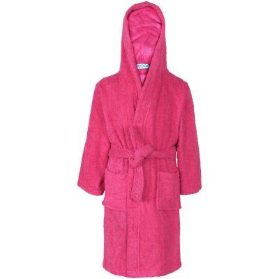 A2Z Kids Girls Boys 100/% Cotton Soft Navy/_Hooded Bathrobe Luxury Dressing Gown 2-13Y